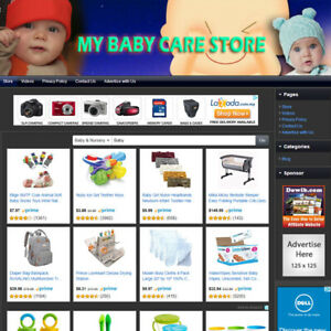 Baby Care Store Established Online Business Website For Sale Free Domain Name