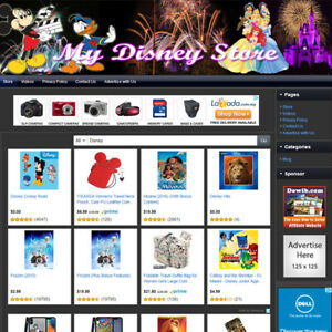 Disney Store Earn Money With Your Own E commerce Website Free Domain Hosting