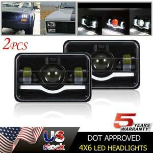 2x 4x6 Dot Approved Led Headlight Drl For Chevrolet S10 1997 1996 1995 R10 1987