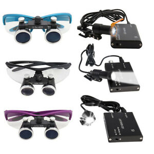 2 5x 3 5x Binocular Dental Loupes 3w Led Head Light Medical Surgical Glasses