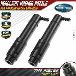 2x Headlight Washer Nozzle Sprayer Jet For Porsche Macan 15 18 Front Left