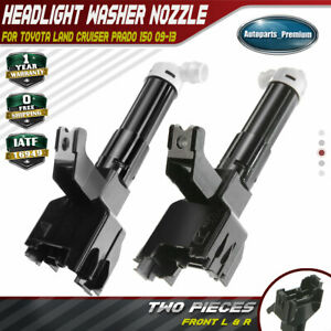 2x Headlight Washer Nozzles For Toyota Land Cruiser 150 10 12 Front Left