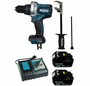 Makita Xph07z 18v 1 2 In Hammer Driver drill 2pc 18v 4 0ah Battery Charger