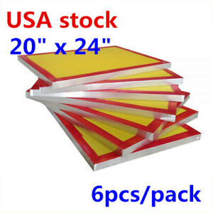 6pack 20 X 24 Aluminum Silk Screen Printing Frame With 200 Yellow Mesh