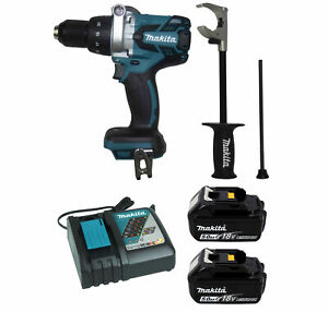 Makita Xph07z 18v 1 2 In Hammer Driver drill 2pc 18v 5 0ah Battery Charger