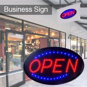 Led Business Open Sign Business Store Animated Motion Light Flashing Steady