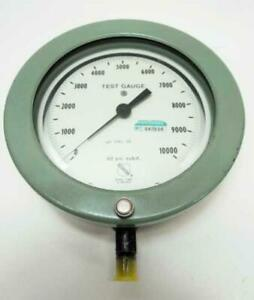 Rare Green Ashcroft Test Gauge Pressure 0 10000 Psi 60 1082