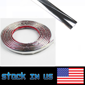 Chrome Molding Trim Bumper Door Window Grille Edge Interior Strip 15mm Wide 144