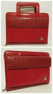 Franklin Covey 365 Classic 1 Inch Large Day One Red Planner Handles Binder Zip