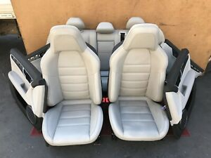 mercedes W204 C63 Amg Complete Sport Leather Seat Seats Cushion Door Panels Oem
