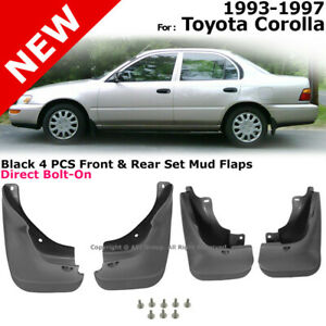 Splash Guards Full Set Front Rear For 1993 1997 Toyota Corolla Mud Flaps
