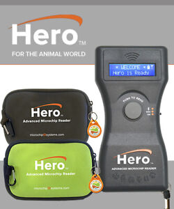 New Hero Universal Microchip Reader scanner By Microchip Id green Or Black