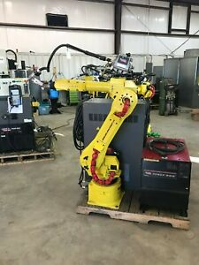 Fanuc Arcmate 120ib Welding Robot Lincoln Powerwave 455m