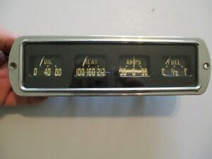 1948 49 50 Dodge Fargo Truck Gauge Cluster Instrument Panel Clean Condition