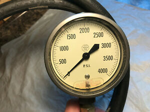 Acco Helicoid Gage 0 4000 Psi With Hose