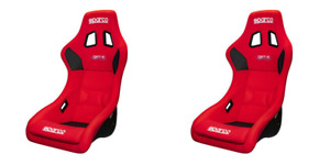Sparco Qrt R 2019 Red Seats Pair Authentic And Rare