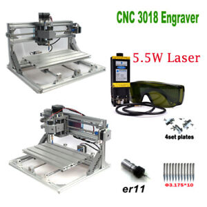Cnc 3018 Engraver Router 5 5w Laser Module Carving Milling Cutting Diy Machine