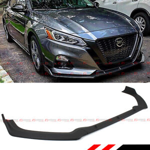 For 2019 2020 Nissan Altima Jdm Matt Black Front Bumper Lip Spoiler Splitter