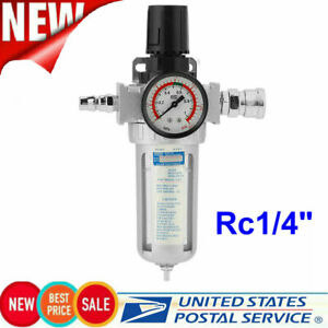 G1 4 Air Compressor Filter Oil Water Separator Trap Tools With Regulator Gauge