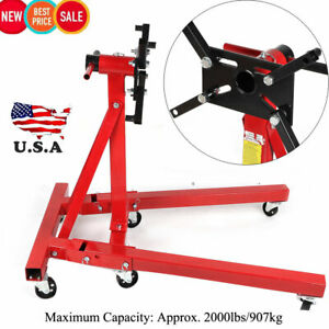 New Shop Engine Stand 2000lbs 907kg Foldable Engine Overturn Stand Hoist Support