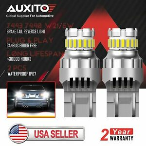 2x Auxito 7443 7440 23smd Led Reverse Brake Stop Drl Light Bulb 6500k Canbus Us
