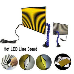 Paintless Dent Removal Repair Usb Led Line Board Scratch Reflector Tools Kit