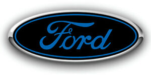 Ford Overlay Black Blue Many Models Logo Overlay Decals 3pc Kit
