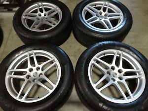 18 Porsche Macan Factory Oem Staggered Wheels Rims Tires 95b601025