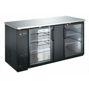 Saba Air Under Back Bar Cooler Refrigerator With Glass Doors