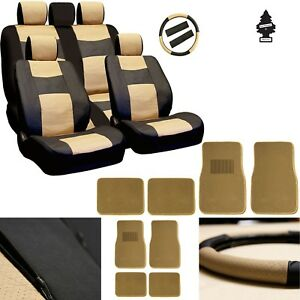 For Nissan New Pu Leather Car Truck Suv Auto Seat Cover Front Rear Mats Set
