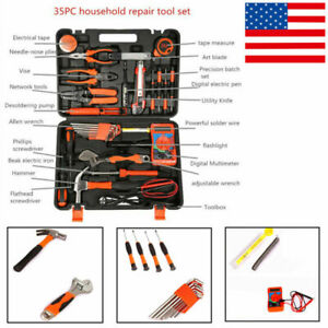 35pcs Electrician s Screwdriver Wrench Tools Kit Portable Household All purpose