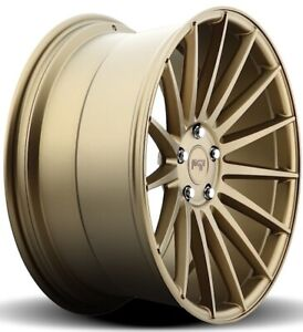 20x10 Niche Form M158 5x120 40 Bronze Wheels set