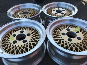 14 Inch Mag Alloy Aluminum Gold Rims Wheels 5x4 75 Mesh