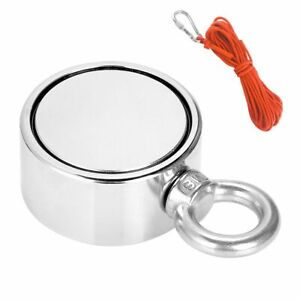 Double Sided Super Strong Neodymium Fishing Magnet 800lbs Pulling Force