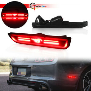 Smoke Lens Led Bumper Side Marker Lights For 2010 2014 Ford Mustang