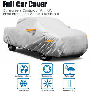 22ft Full Car Coverage Cover Pickup Truck Waterproof Rain Snow Dust Proof Sliver