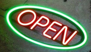 Mystiglo Open Lighted Led Business Sign 27 5 X 12 75 Letters 6 Tall