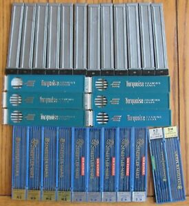 Huge Lot Of Leads Technical Pencil Drawing Lead Staedtler Mars Eagle Turquoise
