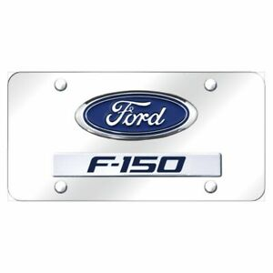 Ford F 150 Chrome Stainless Steel License Plate X d f15 cc