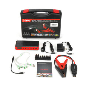 Car Jump Starter Pack Booster Lcd 4 Usb Charger Battery Power Bank New