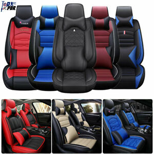 Universal 5 seat Car Seat Cover Leather Protect All Weather Suv Cushions Pad Set