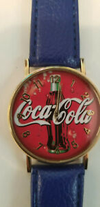 Coca Cola Watch With Blue Band.  01