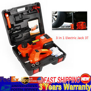 3t Electric Hydraulic Jack W Impact Wrench Car Repair Tool For Off Road Vehicle