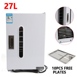 27l Dental Medical Uv Sterilizer Disinfection Cabinet With 10 Free Plates Usa