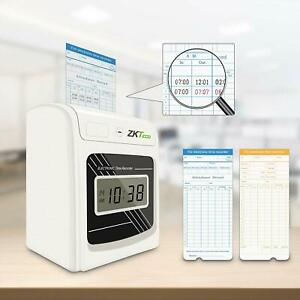 Time Attendance Punch Time Clock Payroll Recorder Lcd Display With Six Column