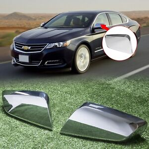 For 2014 2018 2020 Chevy Impala Chrome Triple Mirror Covers Overlays Trims
