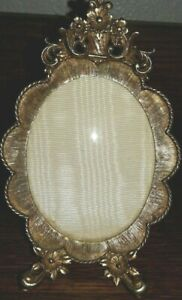 Beautiful Rounded Glass Possibly Gilded Gold Ornate Frame