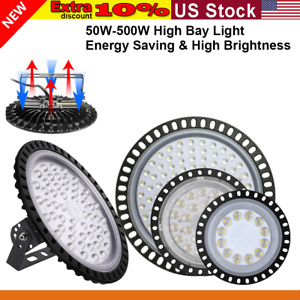 Led High Bay Light 500w 300w 200w 100w 50w Warehouse Industrial Commercial Us