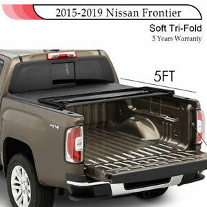 For 2015 2019 Nissan Frontier King Cab Trifolding Tonneau Cover 5ft Short Bed
