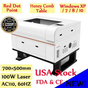 100w 700 500mm Co2 Laser Cutter Engraver Laser Engraving Machine Fda Rotary